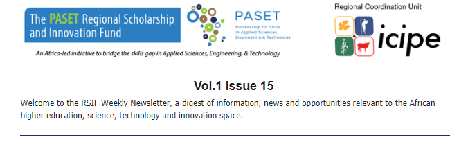 PASET REGIONAL SCHOLARSHIP AND INNOVATION FUND (RSIF) WEEKLY VOL.1 NO.15