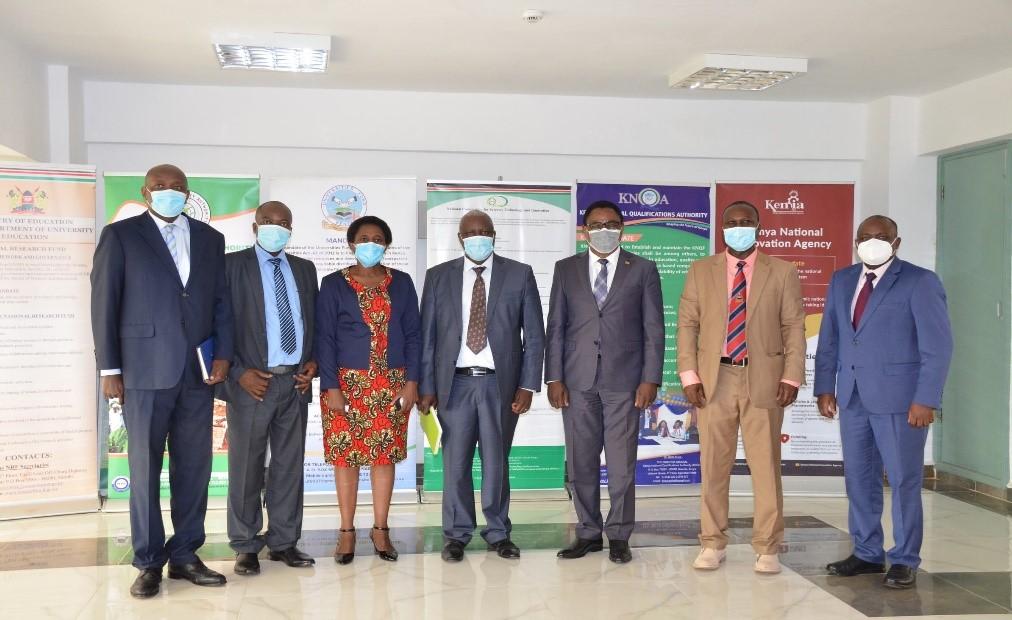 PS SDUER, AMB. SIMON NABUKWESI MEETS CEOS OF SAGAS BASED AT NACOSTI BUILDING