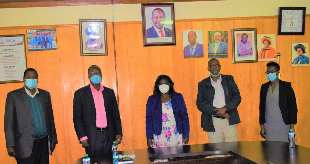 COURTESY CALL BY PROF. WALTER OYAWA DIRECTOR GENERAL TO UNIVERSITY OF ELDORET
